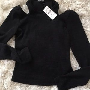 Tops - Black cut out top